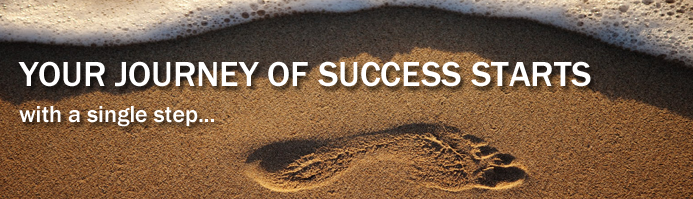 Your Journey of Success Starts with a Single Step (in the sand)